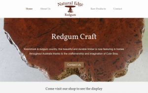 Natural Edge Redgum